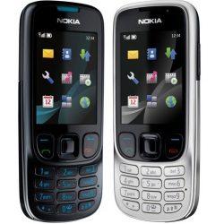 Nokia 6303 független használt ezüst-fekete színben