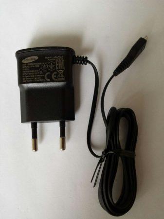Samsung ETA0U10EBE micro USB gyári 0,7A fekete S2 hálózati töltő