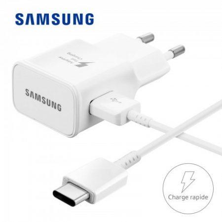 Samsung EP-TA20EBE 2A gyári fehér hálózati gyors töltőfej + EP-DG950CBE Type-C adatkábel