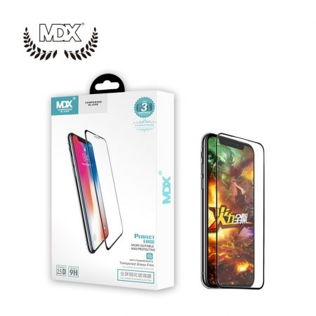 Samsung Galaxy S10 Plus MDX márkájú 3D üvegfólia, ujjlenyomat-olvasonál kivágott