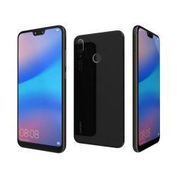 Huawei P20 lite kártyafüggetlen karcmentes, fekete színű okostelefon