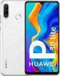 Huawei P30 lite karcmentes, kártyafüggetlen, Dual-simes okostelefon fehér színben 128gb belső memóriával