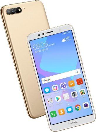 Huawei Y6 2018 használt szép állapotú fehér dual sim okostelefon