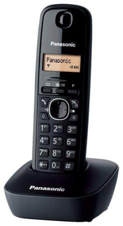 Panasonic KX-TG1611 Hordozható Otthoni Telefon Fekete színben