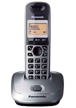 Panasonic KX-TG2511 Hordozható Otthoni Telefon Ezüst színben