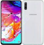 Samsung Galaxy A70 kártyafüggetlen, DUAL-simes okostelefon fehér színben, alig használt