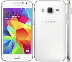 Samsung Galaxy Core Prime fehér használt kártyafüggetlen mobiltelefon új akkumulátorral