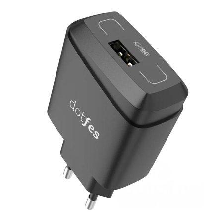 Dotfes C07 fekete 1 USB-s hálózati töltőfej 2.1A