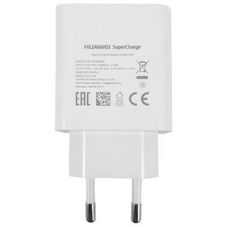 HUAWEI HW-050450E00 P20 Pro Mate 20 Pro fehér gyári super charge hálózati töltőfej 2A 4.5A 5A