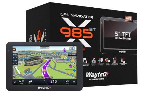 WAYTEQ X985BT 8GB autós navigáció
